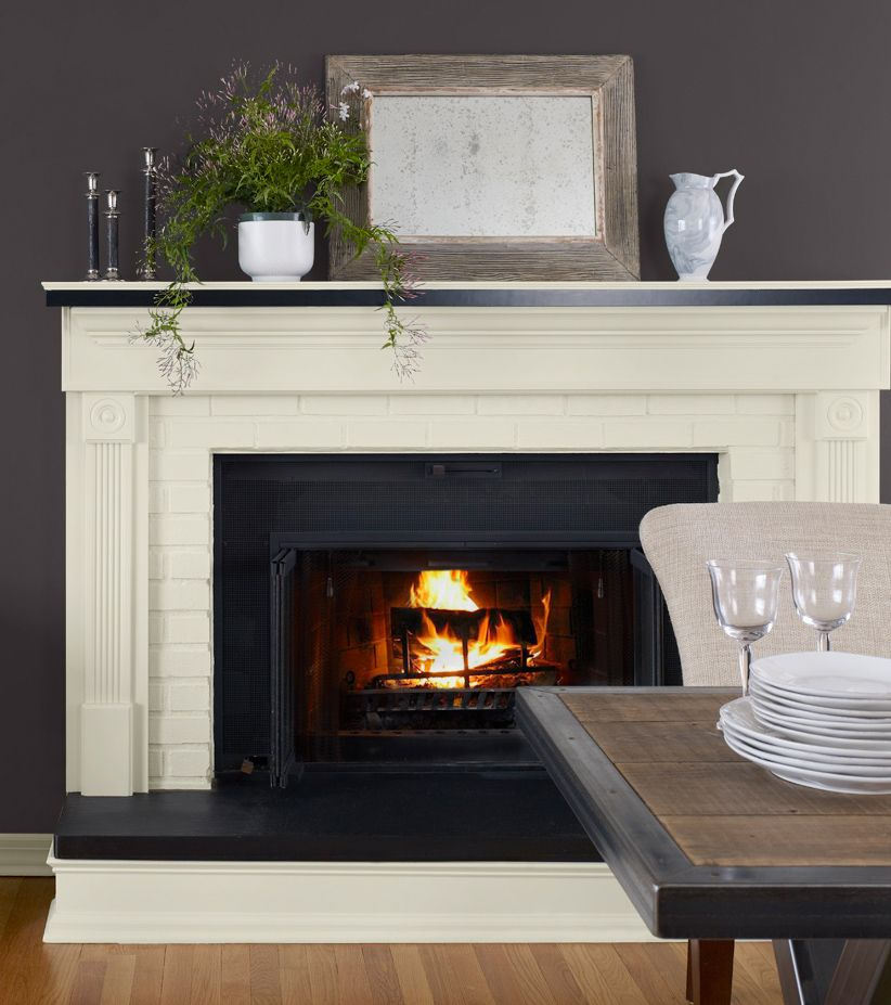 Painting Accent Wall Around Fireplace Dated: Designer Tip #1 Modernize A Dated Fireplace By Painting