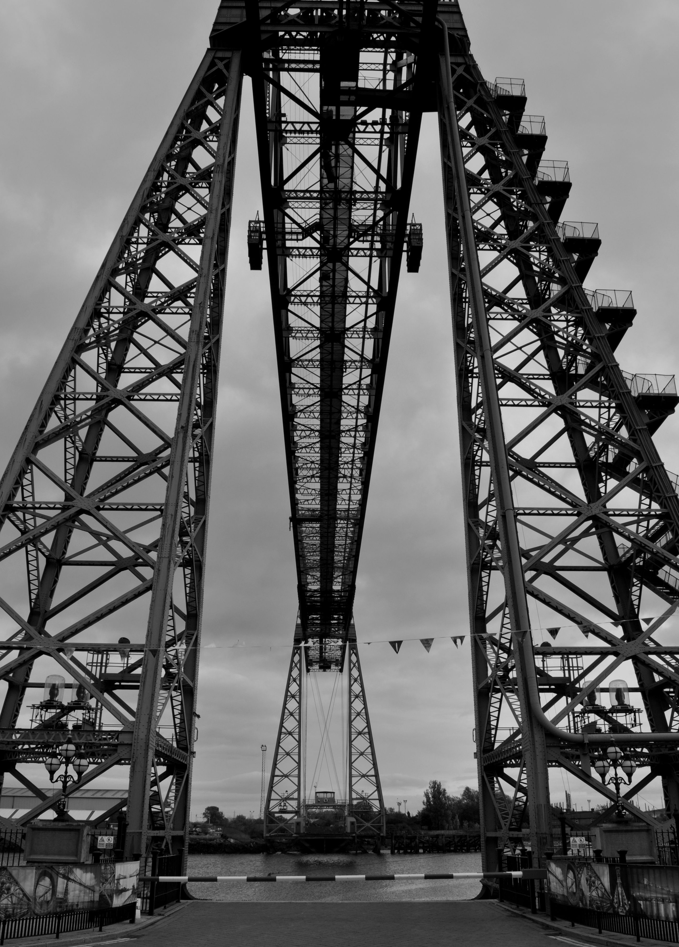 Middlesbrough's famous Transporter Bridge, opened in 1911