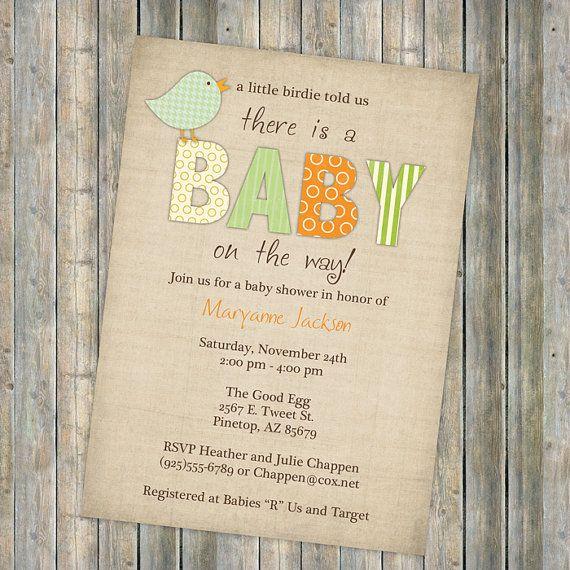 Good Bird Baby Shower Invitations Little Bird By Freshlysqueezedcards, Etsy