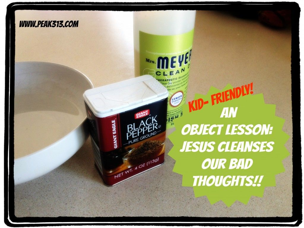An Object Lesson in Jesus Cleansing our Bad Thoughts : peak313 com