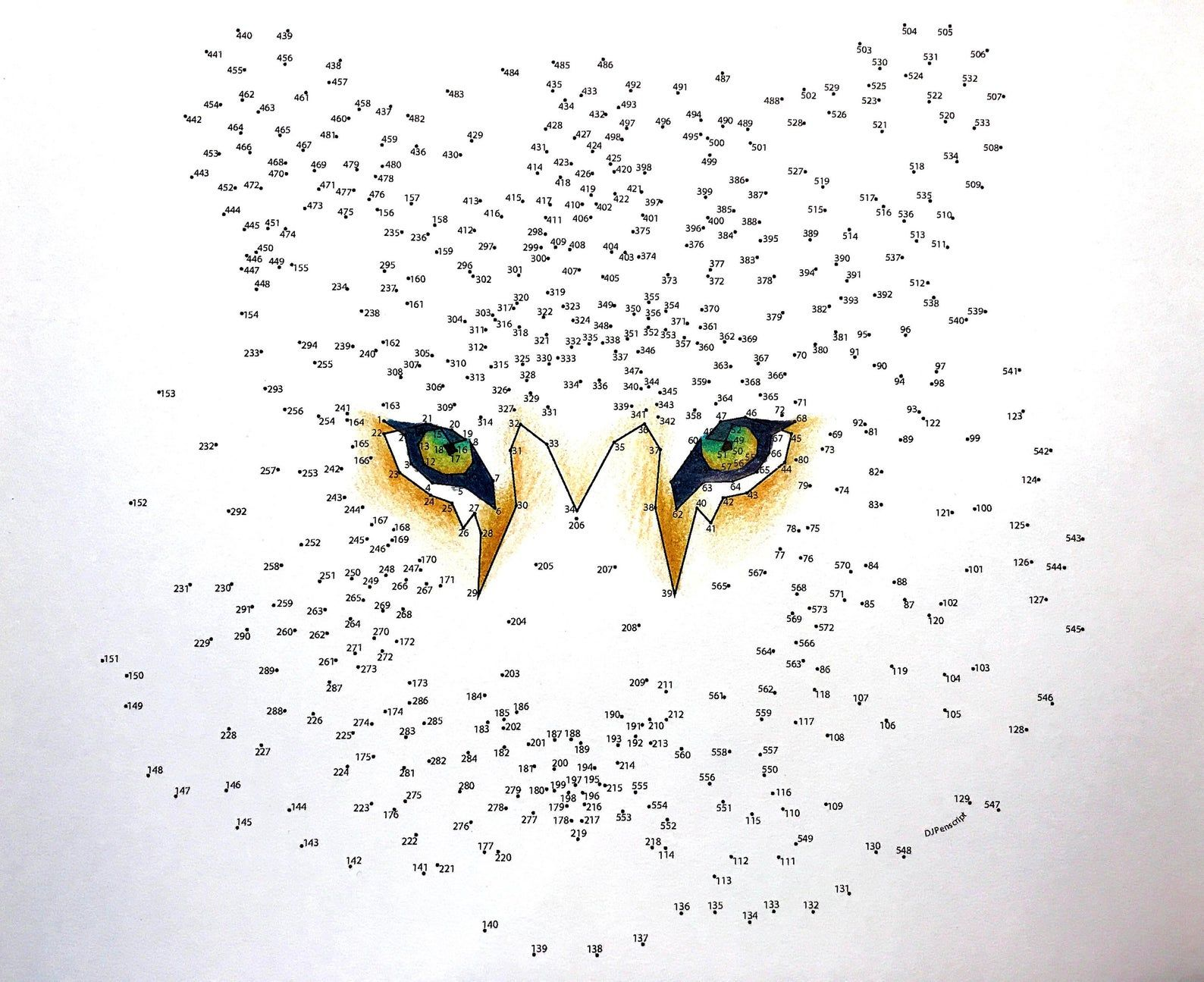 Tiger Extreme Dot To Dot Activity And Coloring Page