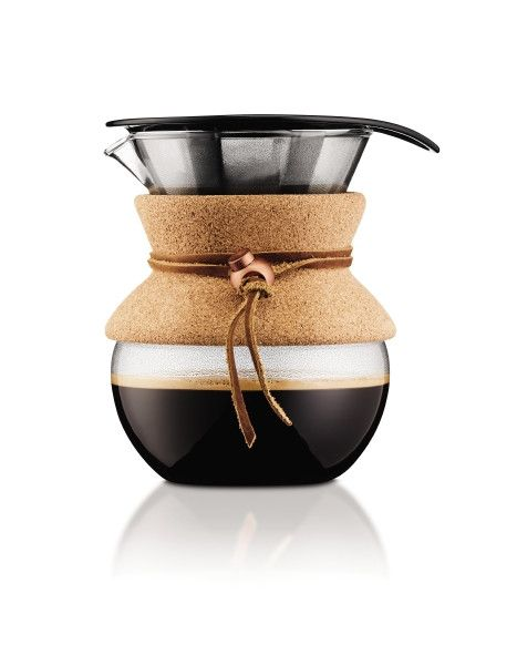 BODUM Pour Over Cork Grip Coffee Maker 500ml features Designed in