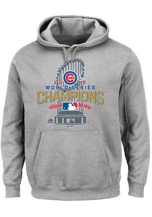 Majestic Chicago Cubs Mens Grey Locker Room Hoodie  2f1a5f4ef