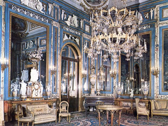 Sal n de espejos es un sal n de estilo neocl sico que era for Espejos horizontales para salon