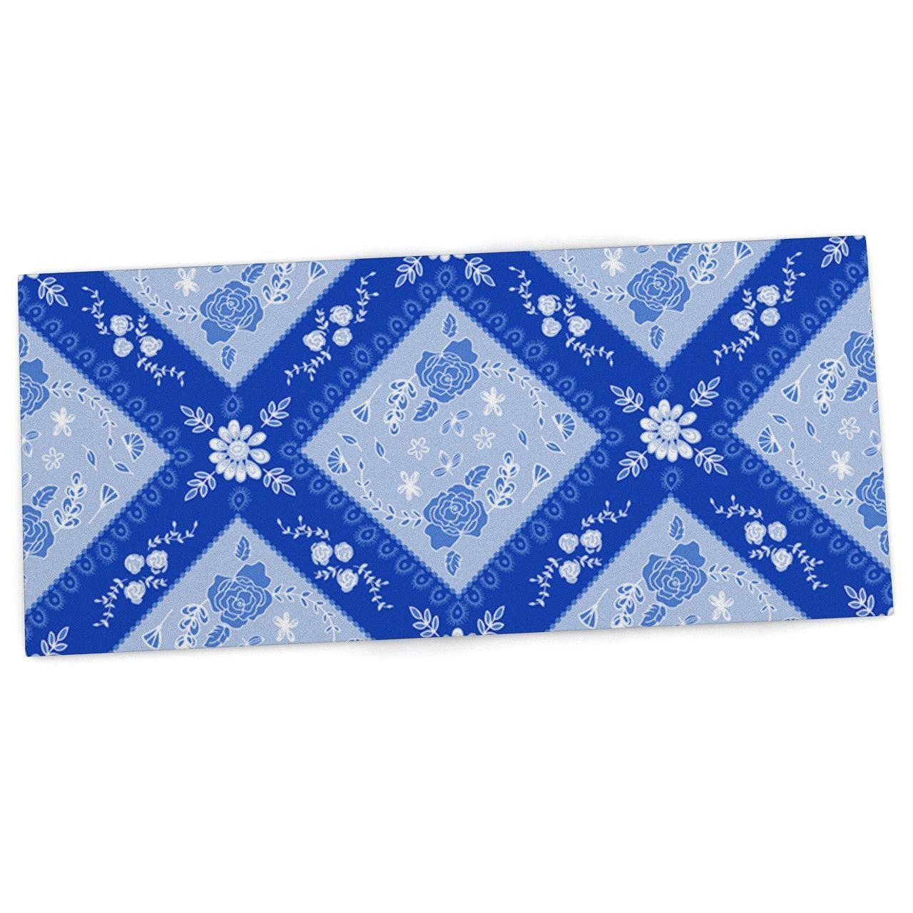 "Anneline Sophia ""Diamonds Blue"" Aqua White Desk Mat"