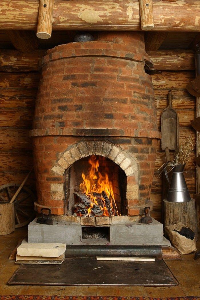 Chimeneas rusticas de le a soluciones madera pinterest - Chimenea rustica de ladrillo ...