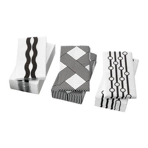 IKEA - VINTERFINT, Papieren servet, Het servet heeft een goed absorberend vermogen: 3-laags papier.
