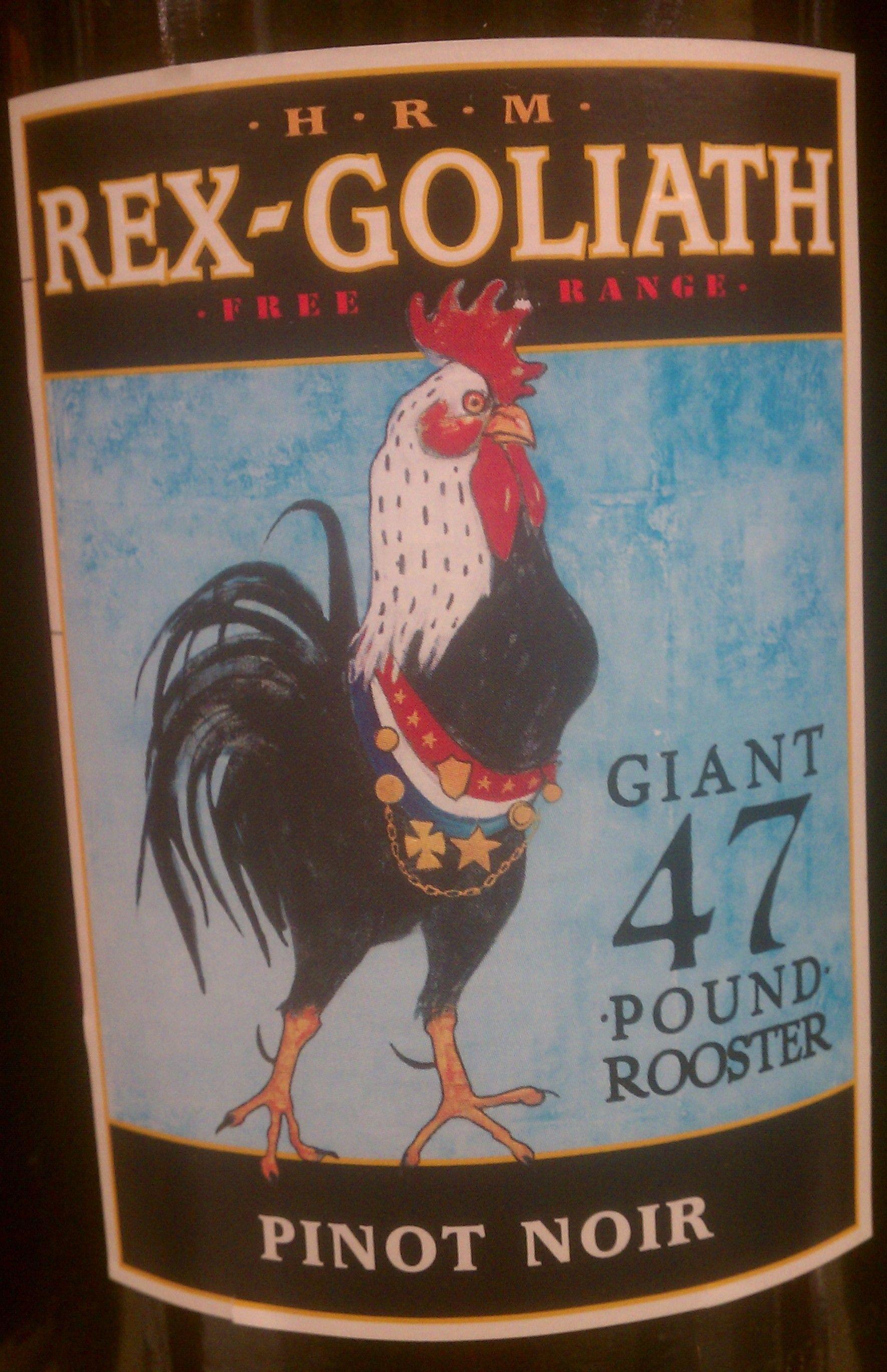 RexGoliath Rooster Wine Label Unique Wine Lable