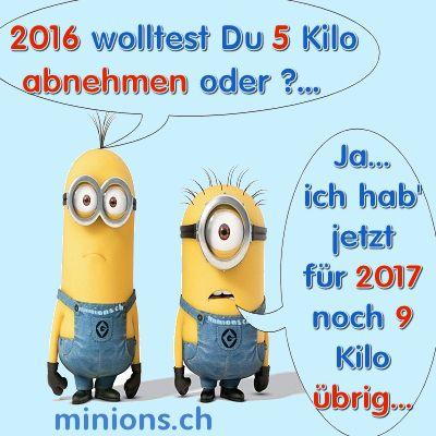 Vorsatz 2017 | minions.ch | Geniale sprüche, Minions ...