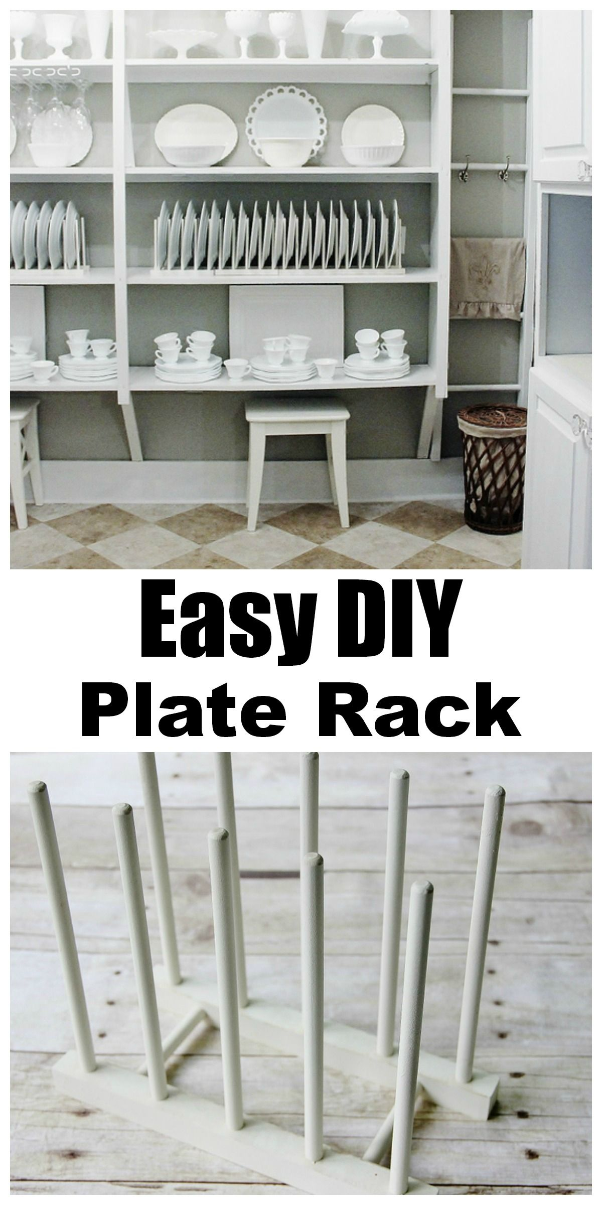 Simple Kitchen Racks simple plate display rack | plate racks, custom plates and pantry