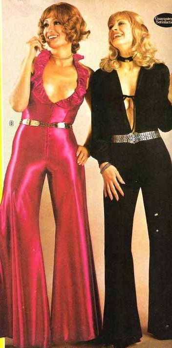 1970's pin up girls | 1970s spandex disco jumpsuits – what a fabulous fashion statement!