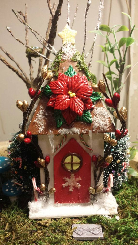 Check out this item in my Etsy shop https://www.etsy.com/listing/216867399/miniature-fairy-christmas-house-candy