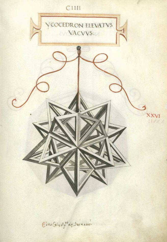 Duodecedron Abscisus Elevatus Vacuus Xxxiiii Disegni Geometrici Leonardo Da Vinci Tutorial Legatoria