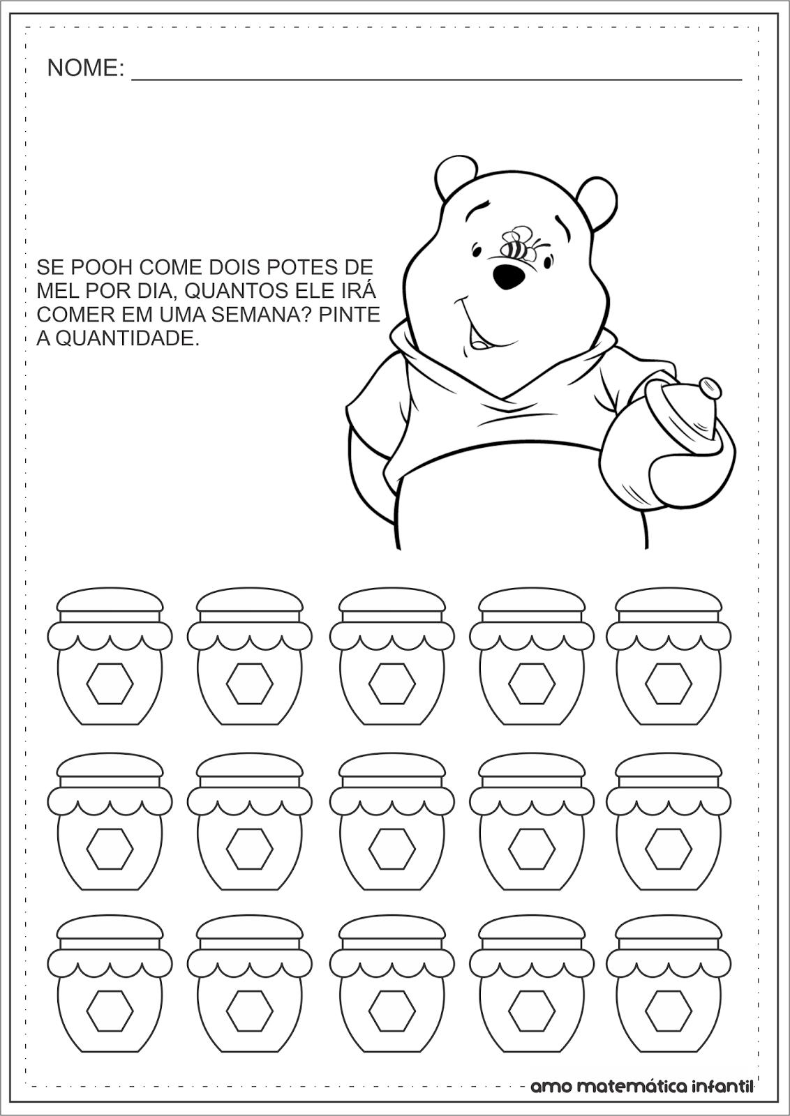 Matematica Infantil Multiplicacao Simples Pooh Atividades