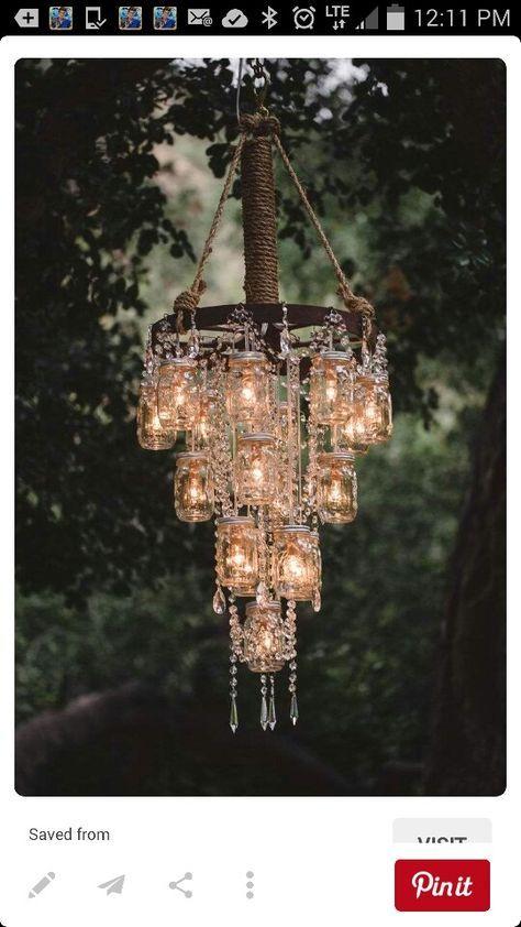 Lighting mason jar
