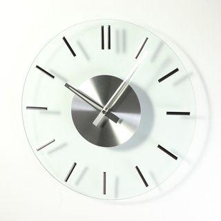 La Horloge Transparent Que Dire Au Temps Mirror Wall Clock Wall Clock Mid Century Glass