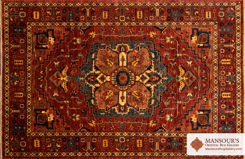 This Is A Beautiful Handmade Rug From Mansour S Afghanistan Serapi 6 0