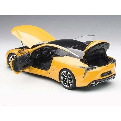 Lexus Lc500 Metallic Yellow 1 18 Model Car By Autoart Products In