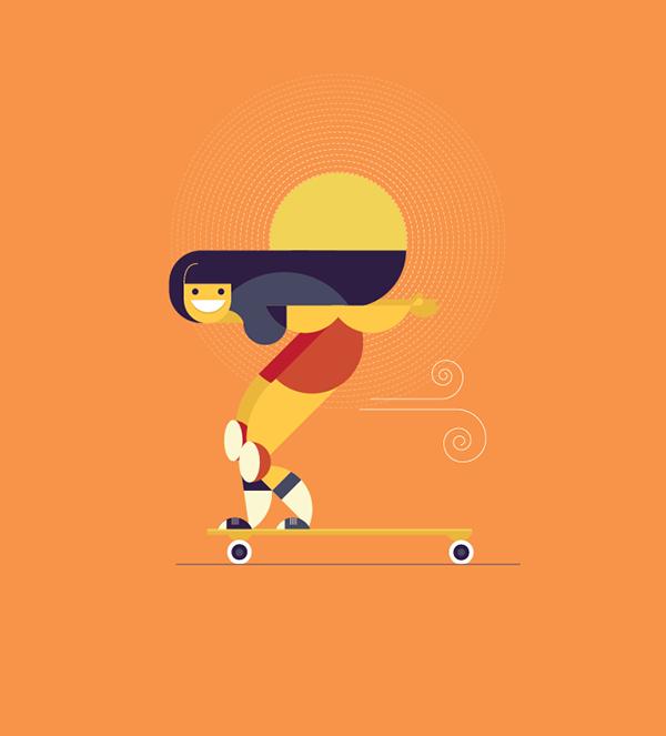 Skater animated gif