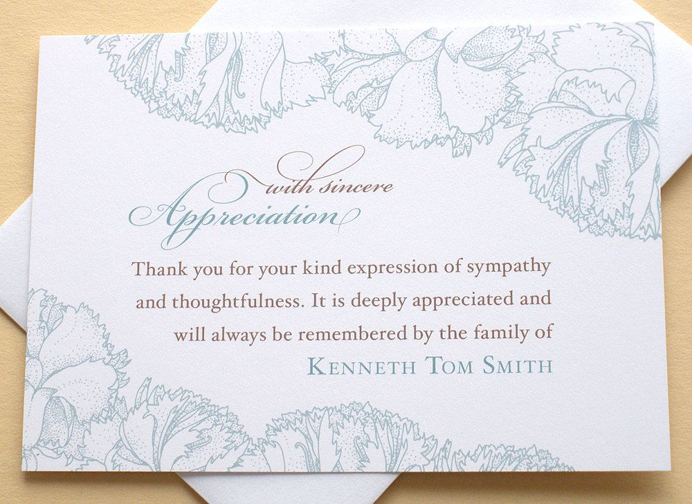 sympathy thank you cards personalized