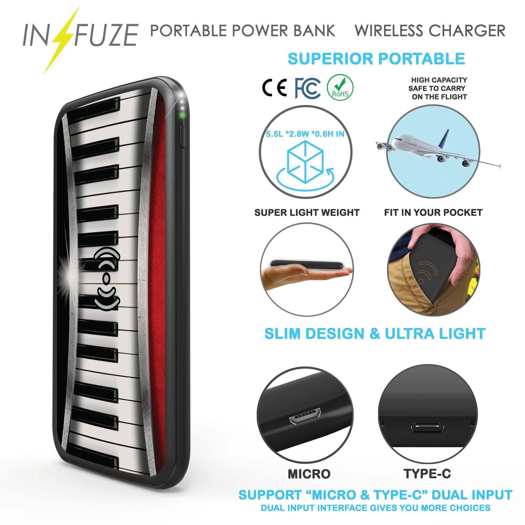 Portable powerbank infuze 10000mah slim fast charge