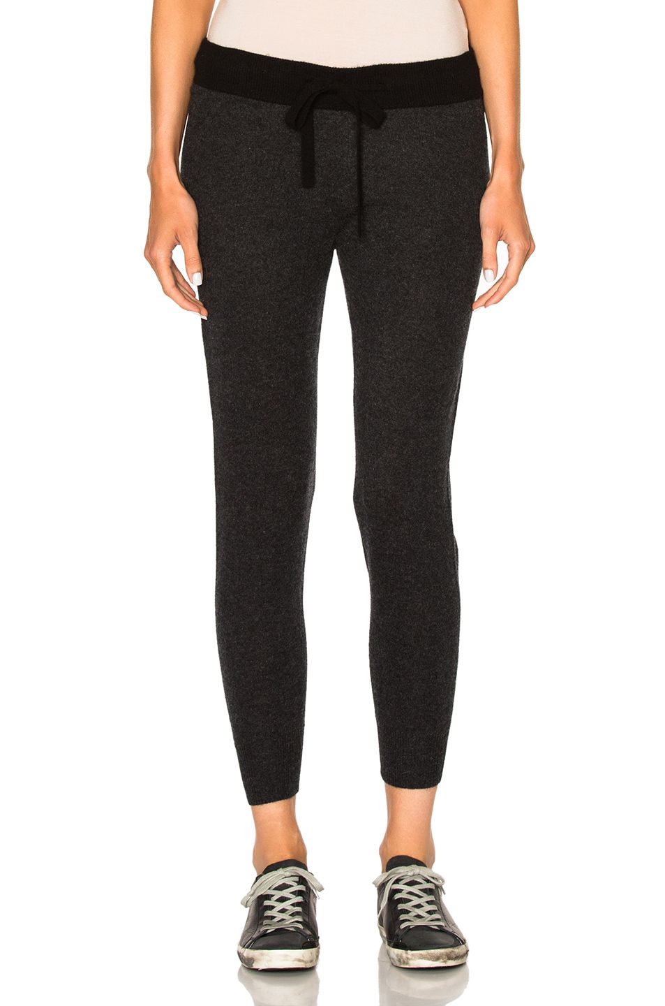 James Perse Woman Cropped Cotton-jersey Track Pants Charcoal Size 24 James Perse Z8VgVItN56