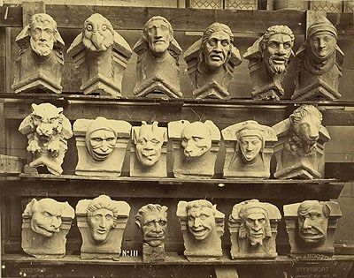 Joseph Trompette. Grotesques from the Cathedral at Reims