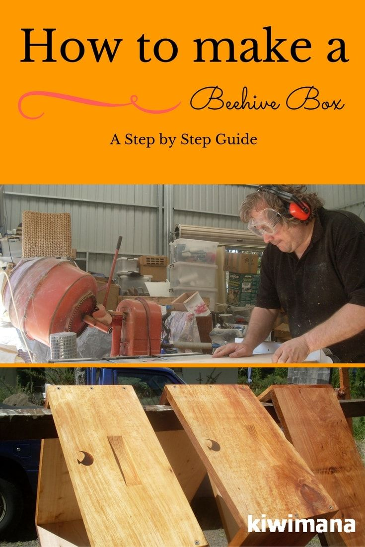 how to make a beehive box a step by step guide bees pinterest bienen imker und garten. Black Bedroom Furniture Sets. Home Design Ideas
