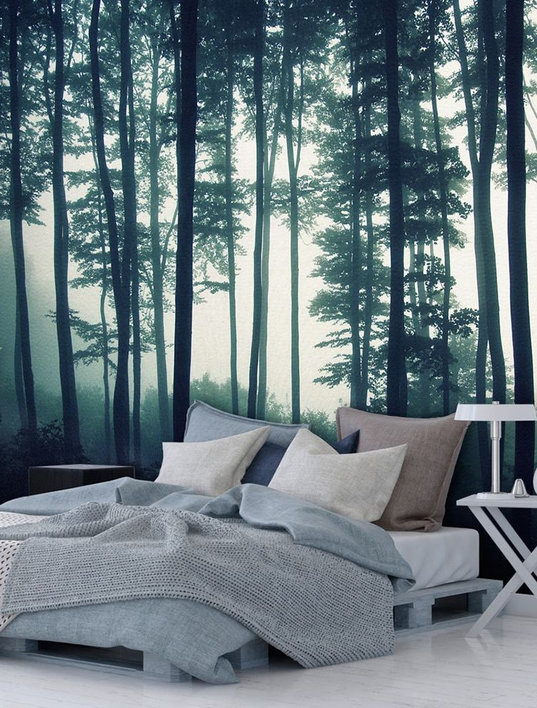 foto tapete dark forest dunklen wald vlies fototapete. Black Bedroom Furniture Sets. Home Design Ideas