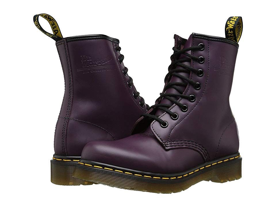 Womens 1460 W Purple Smooth Lace Up Boots 11821500