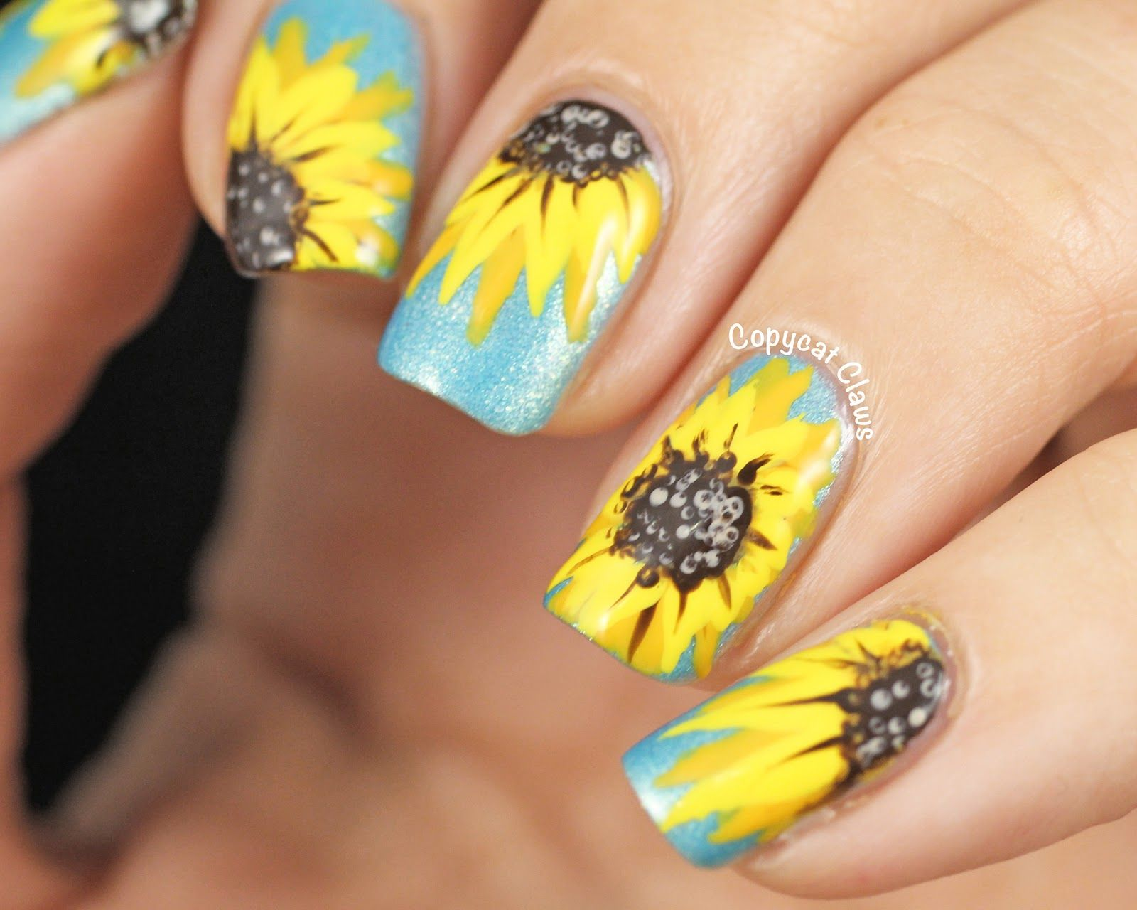 Nail Art Sunflower For The Centers And A Bit Of Detail I Used Revlon Dominate