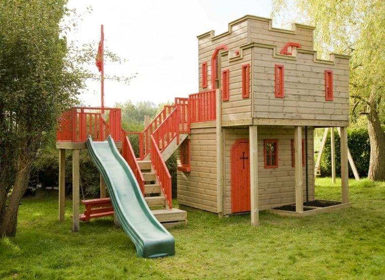 Castillo madera bricoman a pinterest jard n para for Casitas de jardin para ninos baratas