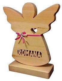 """Geschenkidee zur Geburt mit Namen, ein Geschenk zur Taufe für Mädchen und Jungen! Als Patengeschenk zur Taufe, oder als ausgefallenes und originelles Holz Geschenk zur Geburt , unser """"Schutzengel"""" mit Namen und Gravur aus massiven Zirben Holz ist immer die Richtige Wahl..."""