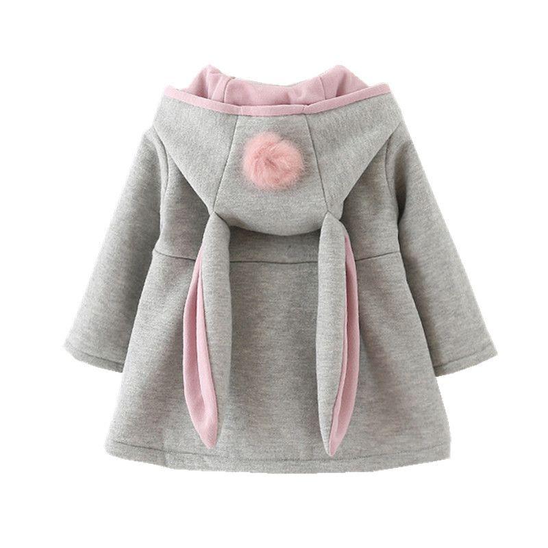 2d9494b3d New hooded coat for girls animal rabbit design cotton baby girl ...