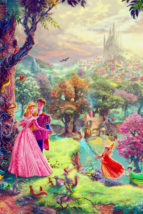 Disney Fine Art - Thomas Kinkade phone backgrounds. Feel free to use it.