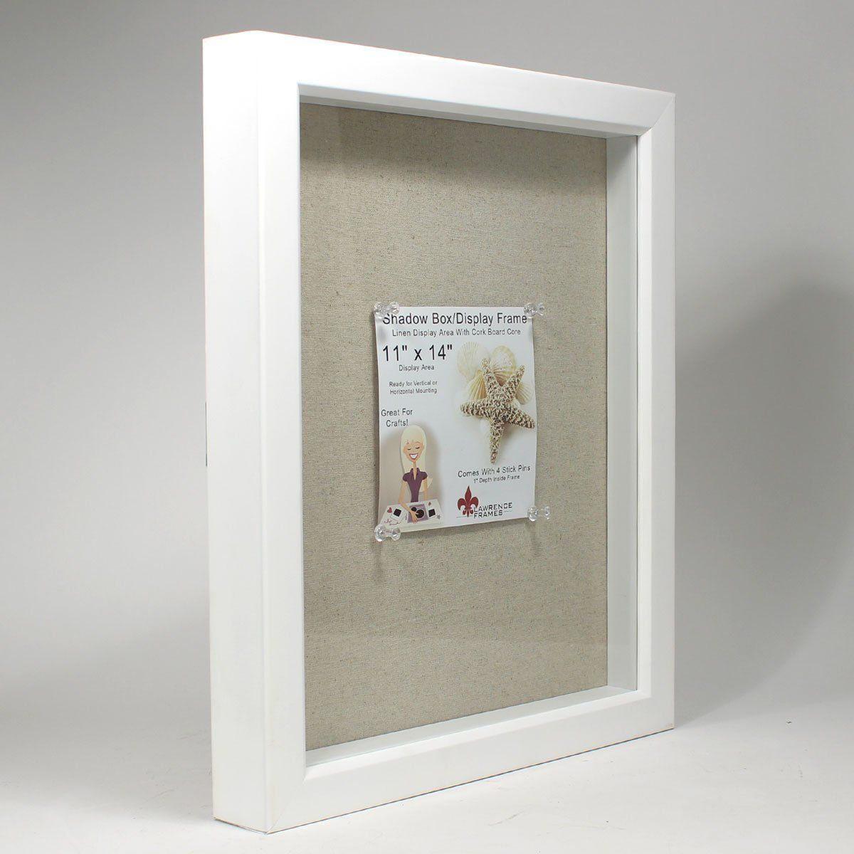 Lawrence Frames Shadow Box Frame With Linen Inner Display Board 11 By 14 Inch White With Images Lawrence Frames White Shadow Box Shadow Box Frames