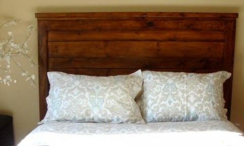 Reclaimed Wood Look Headboard King Size Bedroom Ideas Pinterest