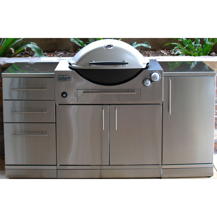 Weber Family Q 3600 Built In Bbq Bbq S And Outdoor Built In Bbq Outdoor Kitchen Outdoor Kitchen Design