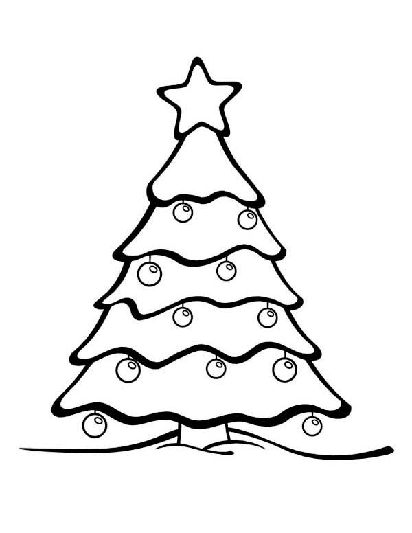 Gorgeous Christmas Tree On Winter Season Coloring Page Coloring Page Netart Christmas Tree Coloring Page Christmas Tree Drawing Easy Christmas Tree Drawing