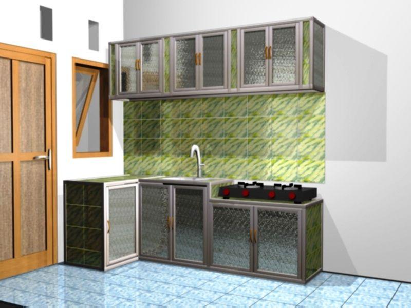 Desain Lemari Dapur Aluminium
