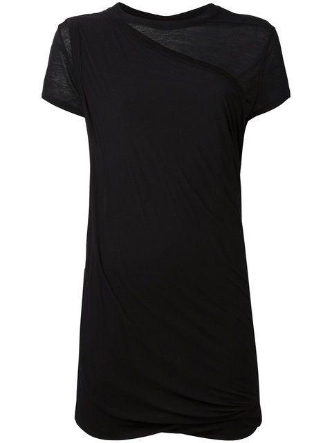 RICK OWENS DRKSHDW Gathered Short-Sleeved Top. #rickowensdrkshdw #cloth #top