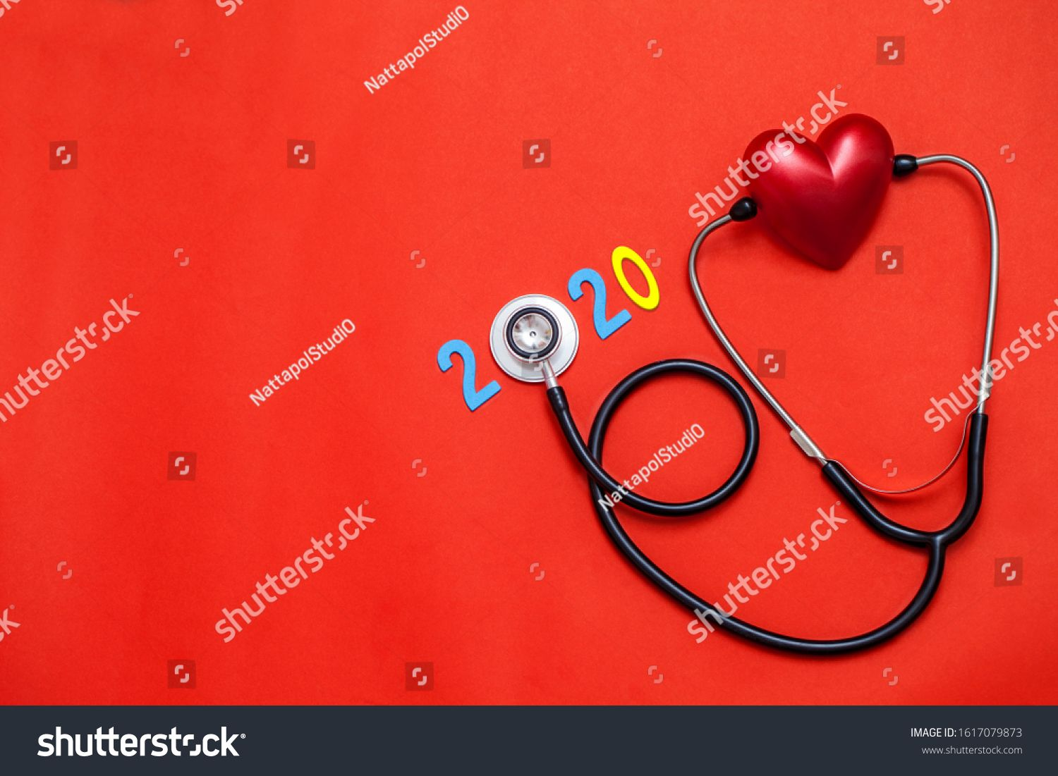 Wooden Colorful On Text 2020 Banner For Health Care And Red Heart Love Medical Concept Black Stethoscope On Ta In 2020 Red Background 10 Things Presentation Templates