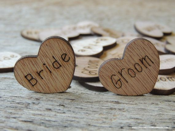 100 Bride Groom 1 Wood Hearts Wood Confetti Engraved Love Hearts Rustic Wedding Decor Table Deco Wooden Hearts Wood Stars Wedding Supplies