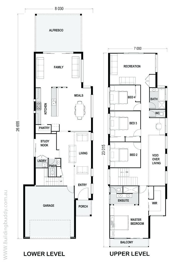 Narrow Lot House Plans Modern House Design Cost Planning And Builders South East Northern New So Narrow House Plans Narrow Lot House Plans Narrow House Designs