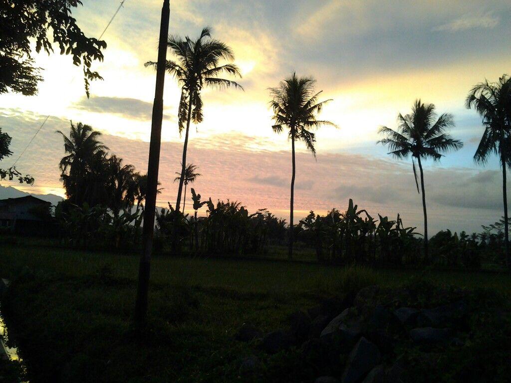 Sunset in my village