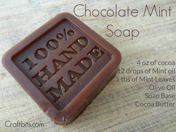 Mix chocolate and mint to create this wonderful soap recipe!