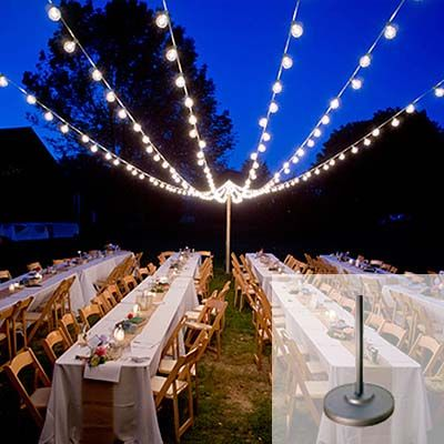 rent free standing poles seattle event lighting wedding