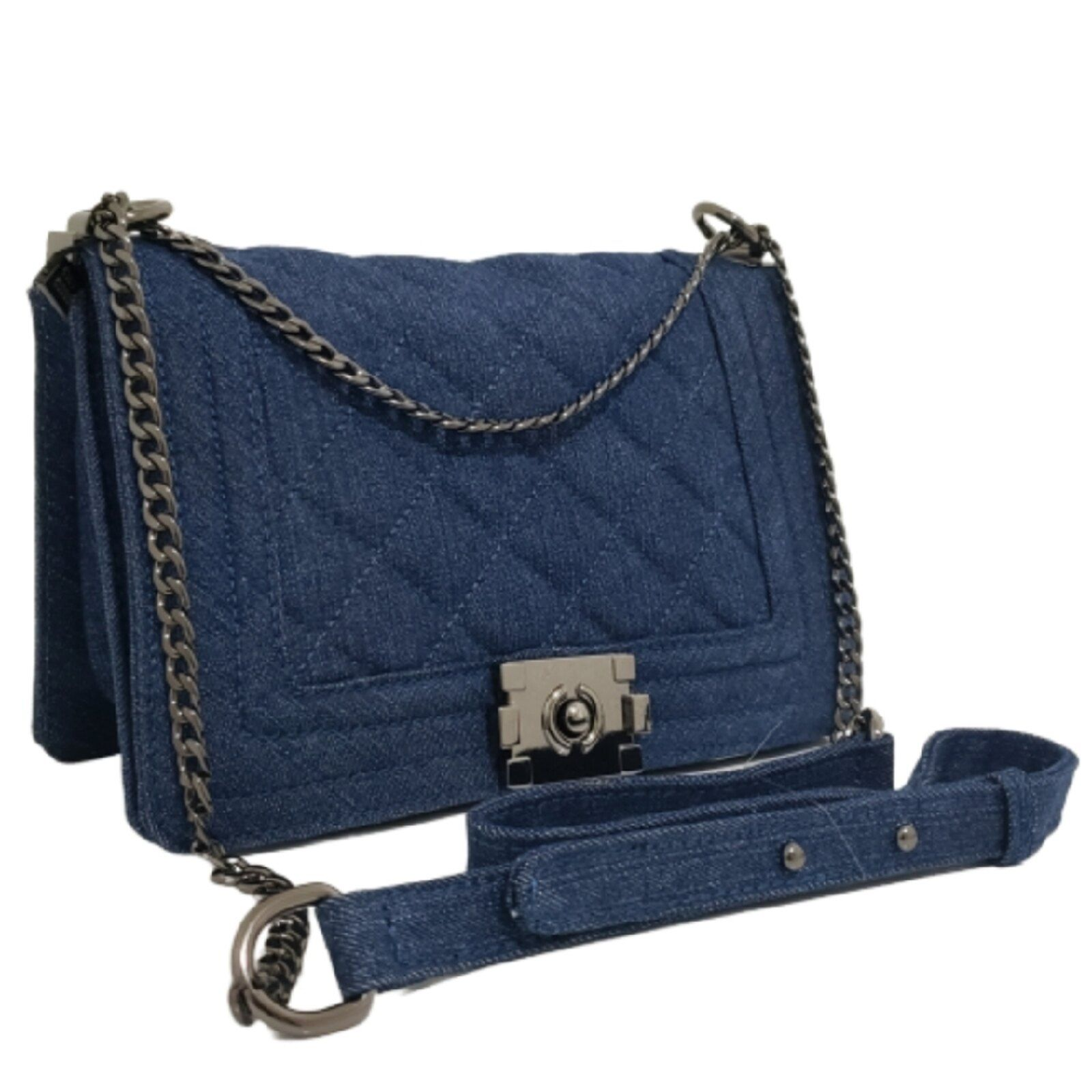 Bolso bandolera pequeño Fanlice Strap Chain Blue Jeans  – Bolsa