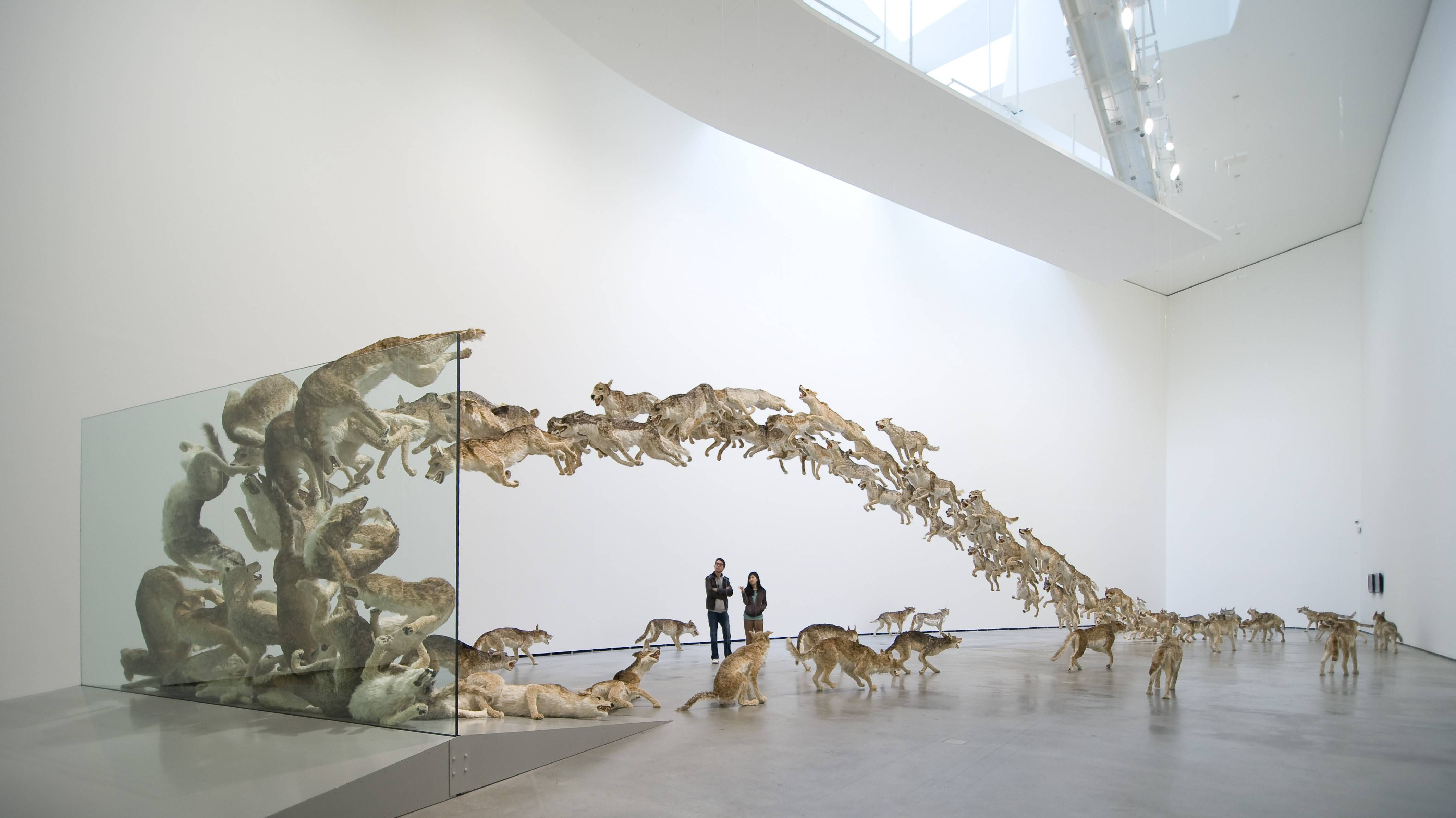 """""""Head On"""" by Cai Guo-Qiang // http://www.caiguoqiang.com  // Thanks @Mat McKechnie #reddit"""