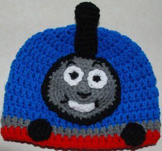 Thomas the Train hat pattern, http://amray1976.blogspot.com/2013/01/crochet-thomas-train-hat.html